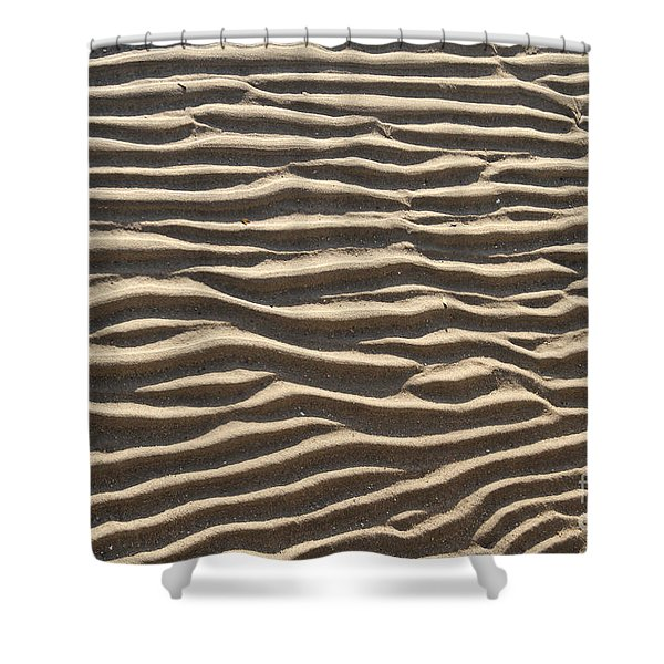 Sand Ripples Shower Curtain by Photo Researchers, Inc.
