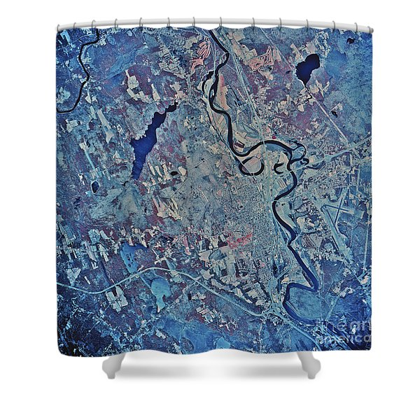 Satellite View Of Concord, New Shower Curtain by Stocktrek Images