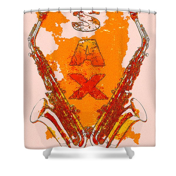 Sax Shower Curtain by David G Paul