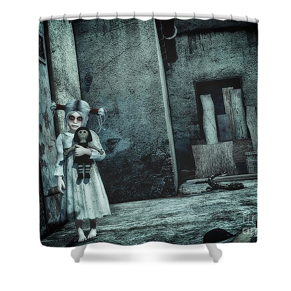 Scary Place Shower Curtain by Jutta Maria Pusl