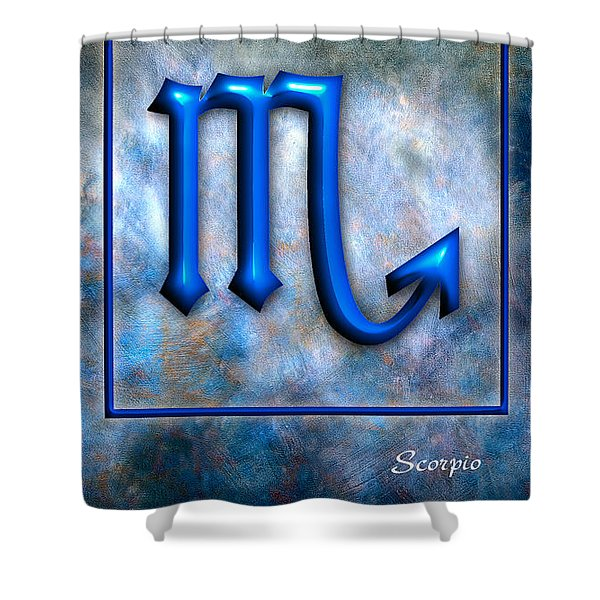 Scorpio Shower Curtain by Mauro Celotti