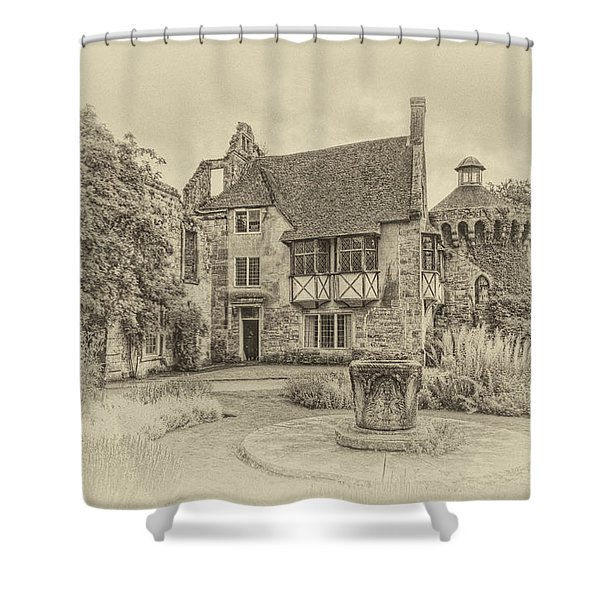 Scotney Castle Shower Curtain by Chris Thaxter