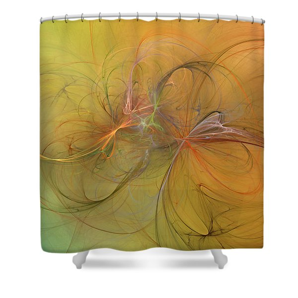 Sea Grass Sunset Shower Curtain by Betsy C  Knapp