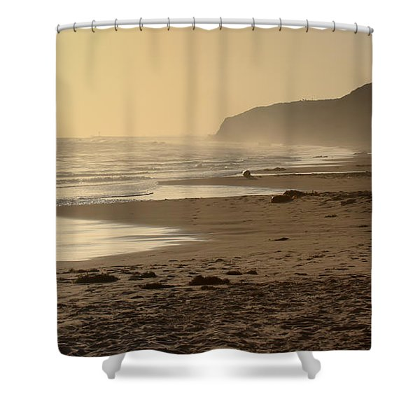 Sea In Sepia Shower Curtain by Heidi Smith