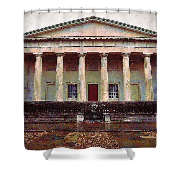 Second Bank Of The United States Philadelphia Pa Shower Curtain by Bill Cannon