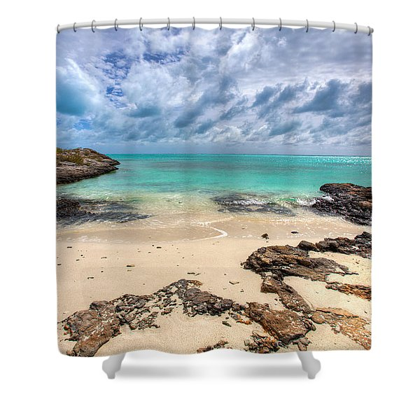 Secret of West Harbour Shower Curtain by Chad Dutson