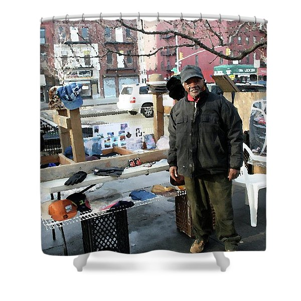 Selling My Wares Shower Curtain by Terry Wallace