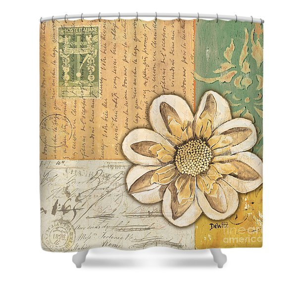 Shabby Chic Floral 2 Shower Curtain by Debbie DeWitt
