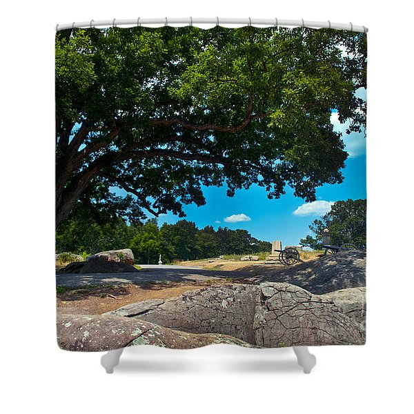 Shady Hilltop Shower Curtain by Paul W Faust -  Impressions of Light