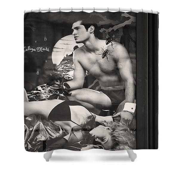 Shame On You Two...stockholm Shower Curtain by Stylianos Kleanthous