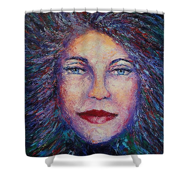 She's Come Undone Shower Curtain by Shannon Grissom