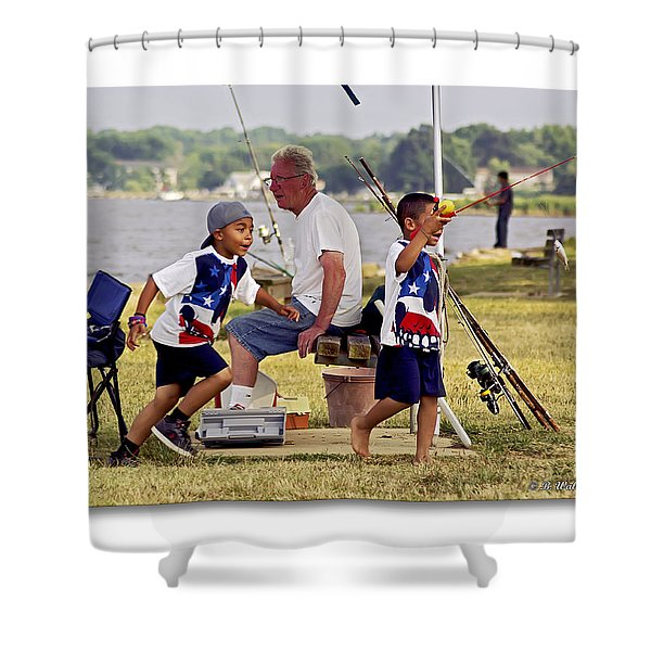 Show Grand-mom  Shower Curtain by Brian Wallace