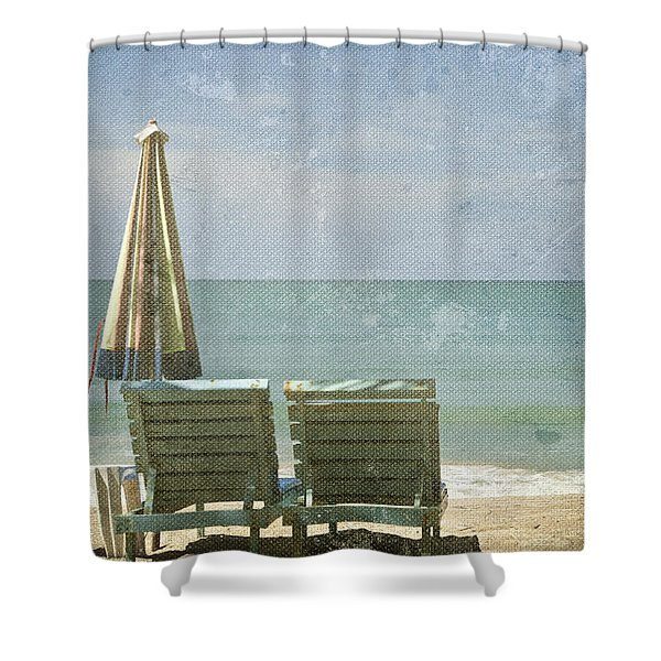Side By Side Shower Curtain by Nomad Art And  Design