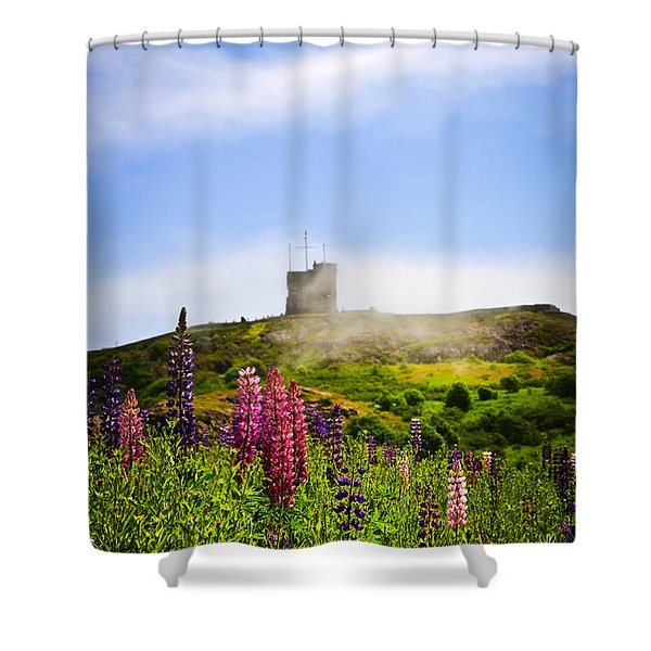 Signal Hill in St. John's Newfoundland Shower Curtain by Elena Elisseeva