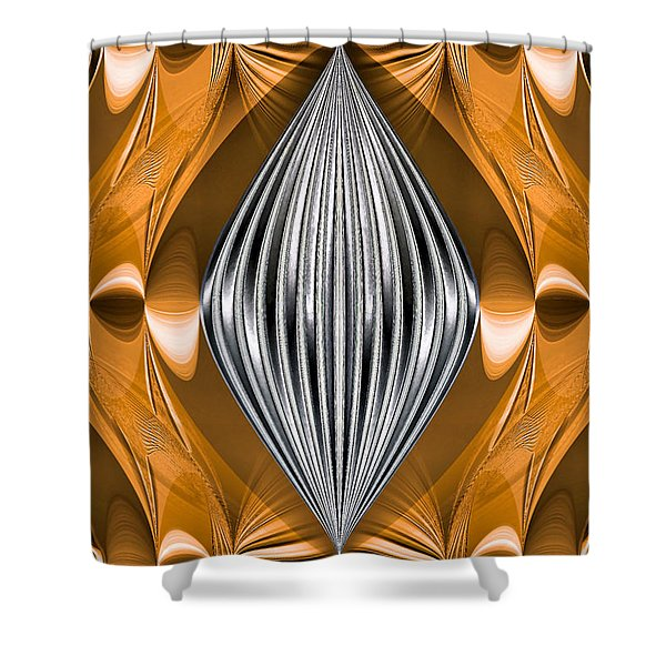 Silver Marquise Engagement Shower Curtain by Kristin Elmquist