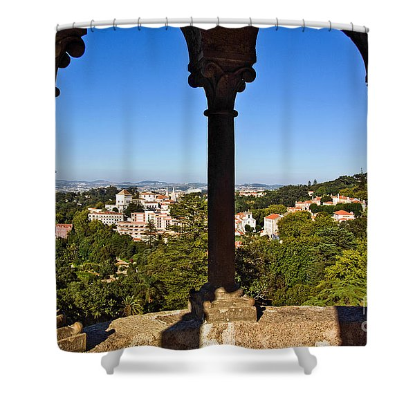 Sintra Balcony Shower Curtain by Carlos Caetano
