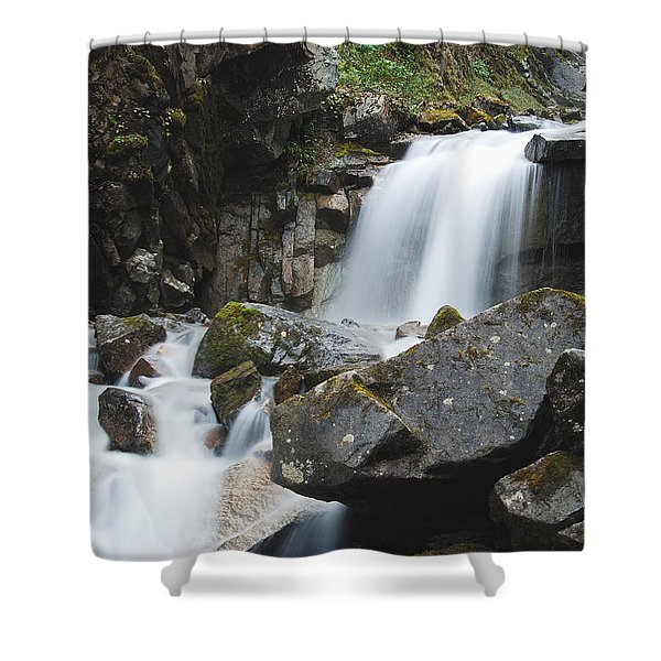 Skagway Waterfall 8619 Shower Curtain by Michael Peychich