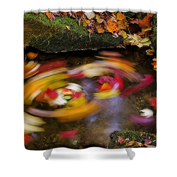 Smoky Mountain Whirlpool Shower Curtain by Rich Franco