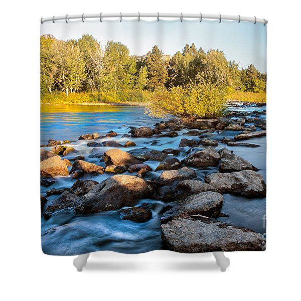 Smooth Rapids Shower Curtain by Robert Bales