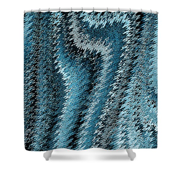 Snake Abstract Shower Curtain by David Pyatt