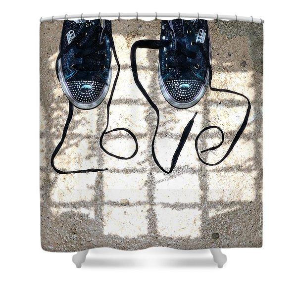 Sneaker Love 1 Shower Curtain by Paul Ward