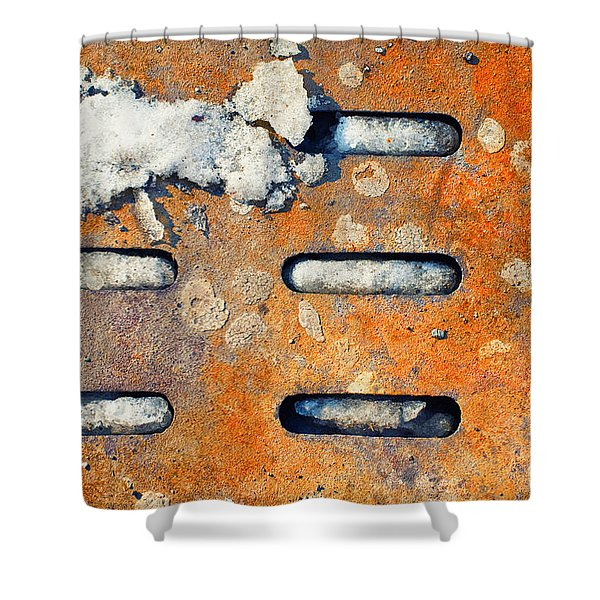 Snow On Ground Shower Curtain by Silvia Ganora