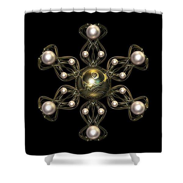 Snowflake Jewel Shower Curtain by Hakon Soreide