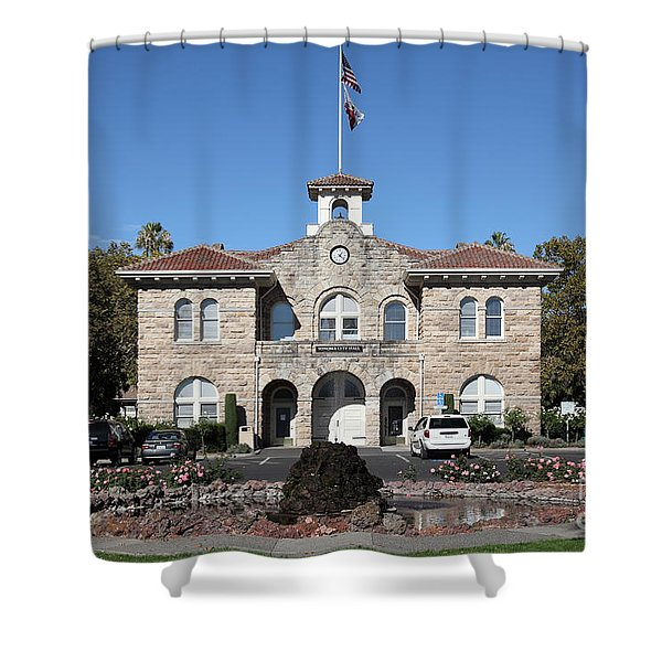 Sonoma City Hall - Downtown Sonoma California - 5d19260 Shower Curtain by Wingsdomain Art and Photography
