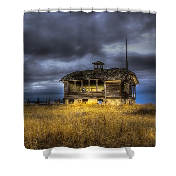 Spot on the School House Shower Curtain by Jean Noren