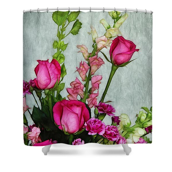 Spray of Flowers Shower Curtain by Judi Bagwell