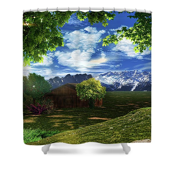 Spring Dawn Shower Curtain by Lourry Legarde