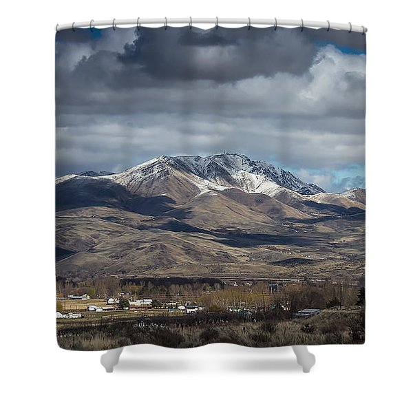 Spring Snow Shower Curtain by Robert Bales