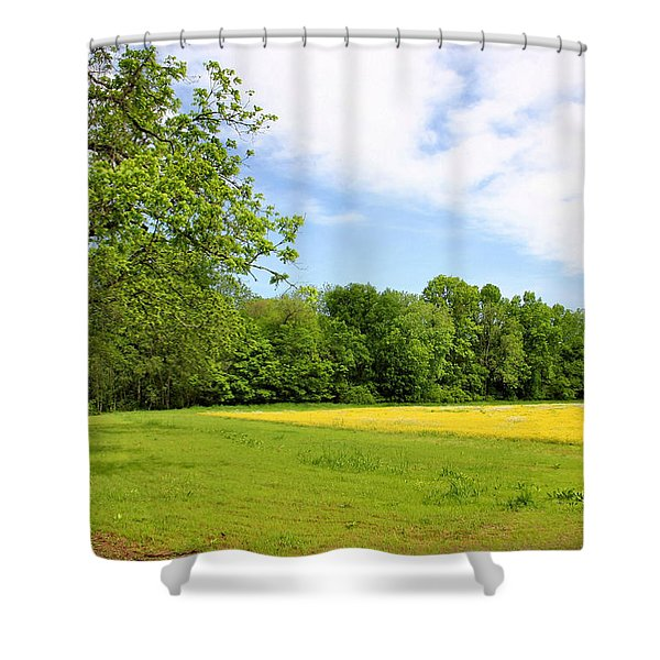 Springtime in Franklin Shower Curtain by Kristin Elmquist