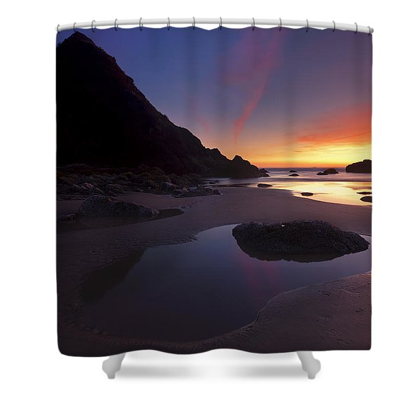 Stacked Reflections Shower Curtain by Mike  Dawson