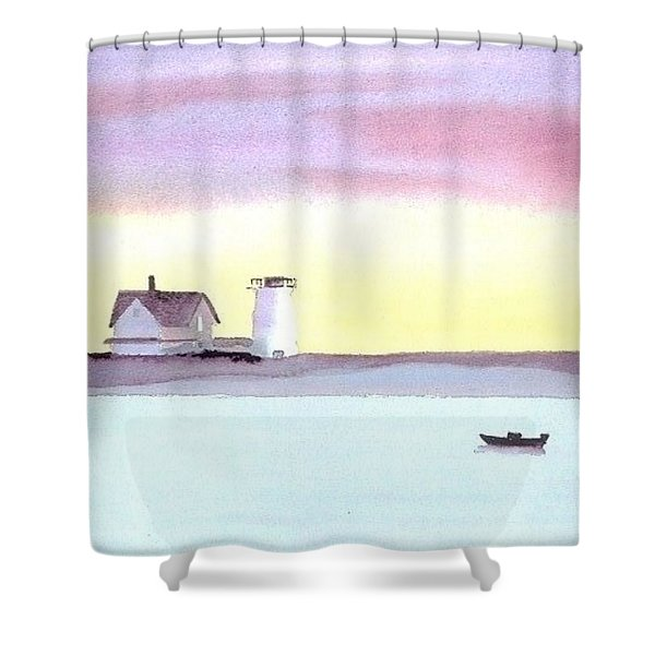 Stage Harbor Shower Curtain by Joseph Gallant
