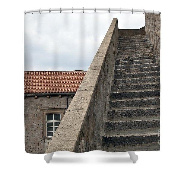 Stairway in Dubrovnik Shower Curtain by Madeline Ellis