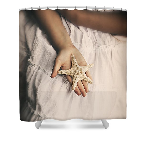 Starfish Shower Curtain by Joana Kruse