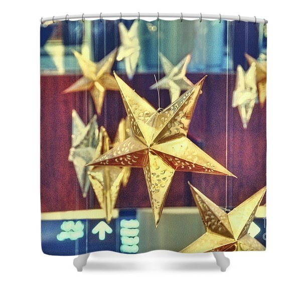 Stars Shower Curtain by Charuhas Images
