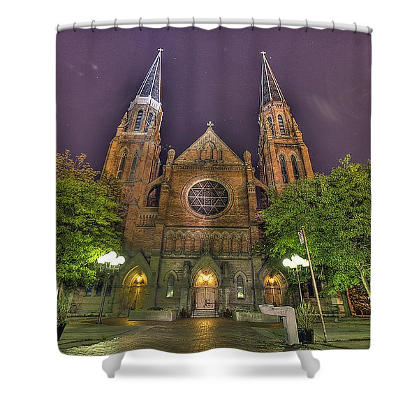 Ste. Anne de Detroit Shower Curtain by Nicholas  Grunas