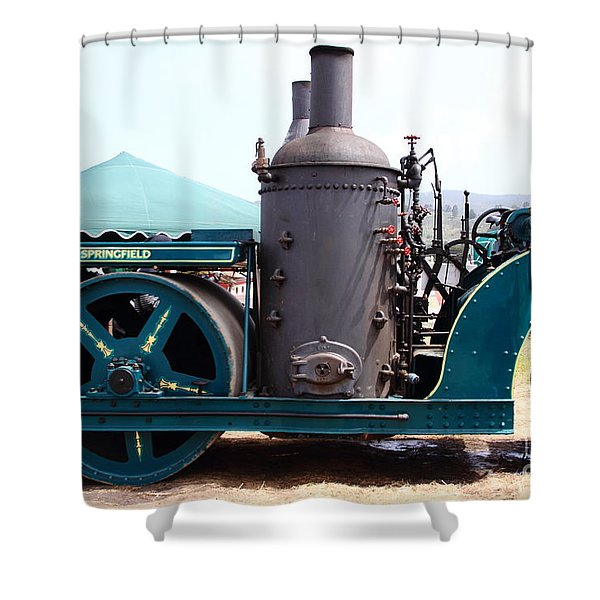 Steam Powered Roller 7d15116 Shower Curtain by Wingsdomain Art and Photography