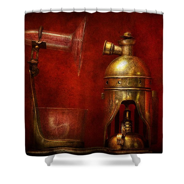 Steampunk - The Torch Shower Curtain by Mike Savad