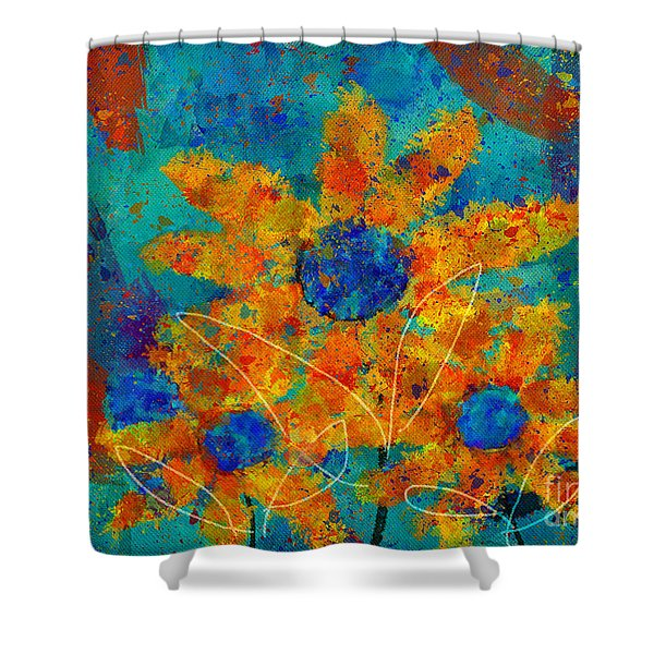 Stimuli Floral -s01t01 Shower Curtain by Variance Collections