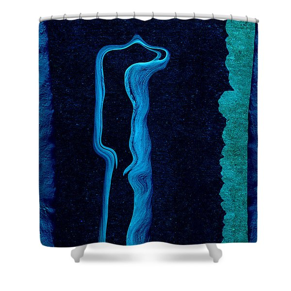 Stone Men 01c2 - Her Shower Curtain by Variance Collections