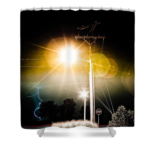 Stop It Shower Curtain by James BO  Insogna