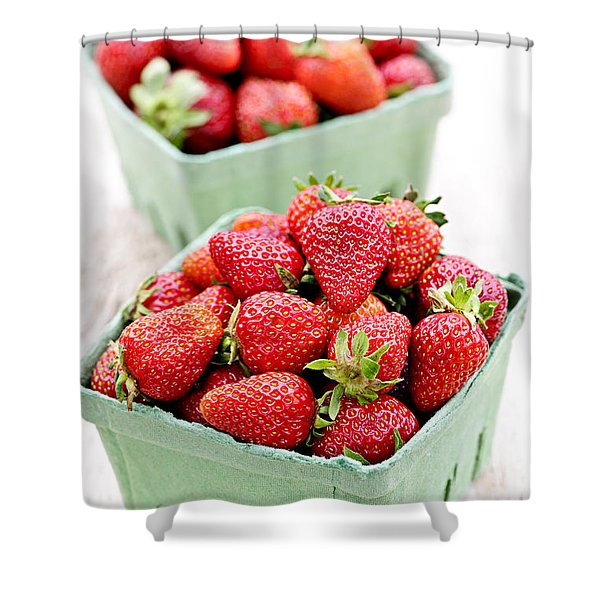 Strawberries Shower Curtain by Elena Elisseeva