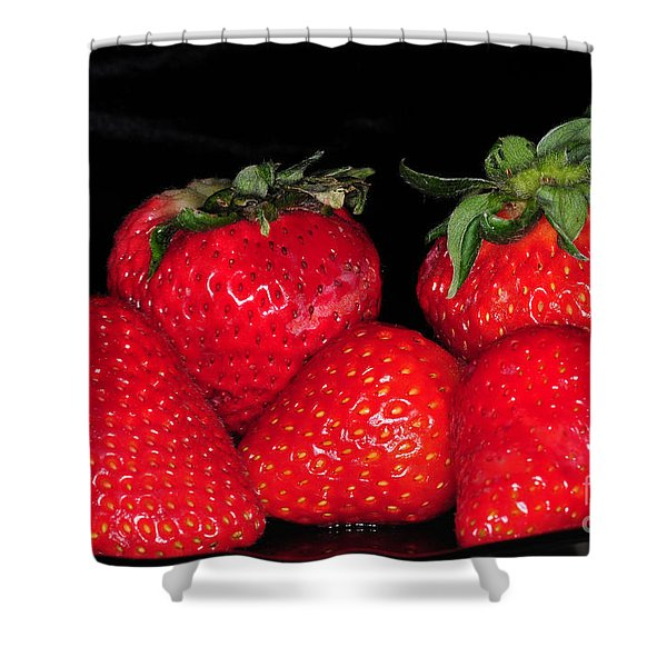 Strawberries Shower Curtain by Paul Ward