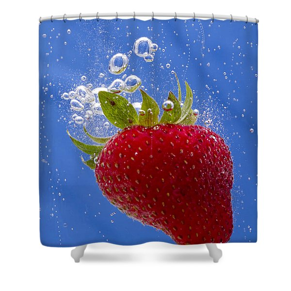 Strawberry Soda Dunk 3 Shower Curtain by John Brueske