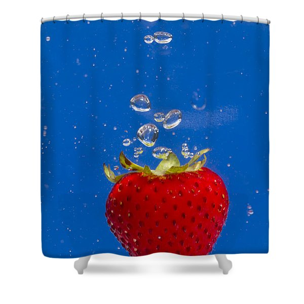 Strawberry Soda Dunk 6 Shower Curtain by John Brueske