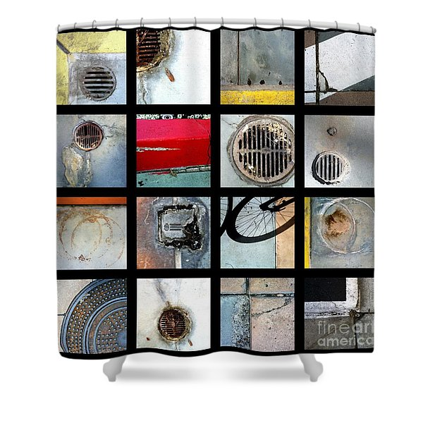 Streets Of La Jolla Poster Shower Curtain by Marlene Burns