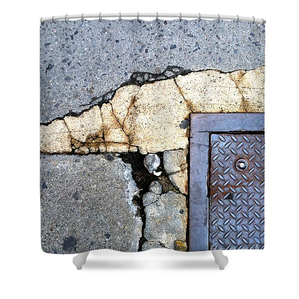 Streets Of Nyc Abstract One Shower Curtain by Marlene Burns
